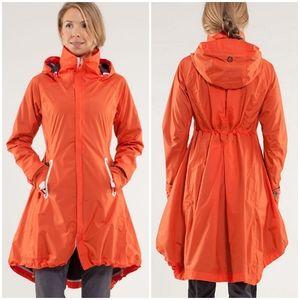 RARE Lululemon Ride On Rain Jacket Dazzling Coal